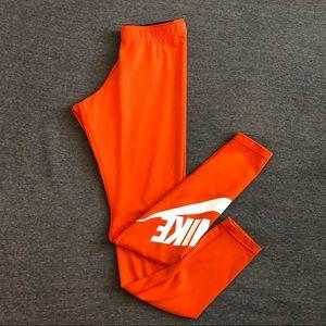 Orange Nike Tights Sz Small